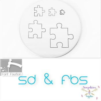 Puzzle Piece Metal Design Stamps - Which Size?