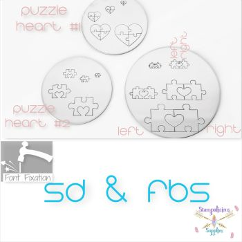 Puzzle Heart Metal Design Stamps - Which Size & Style?