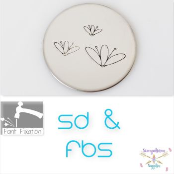 3 Petal Flower Metal Design Stamps - Which Size? (With Filaments)