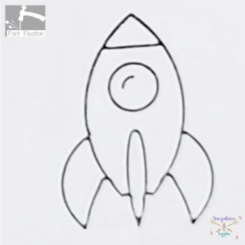 Spaceship Rocket Metal Design Stamp
