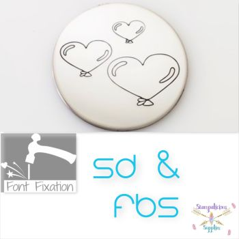 Heart Balloon Metal Design Stamps - Which Size?