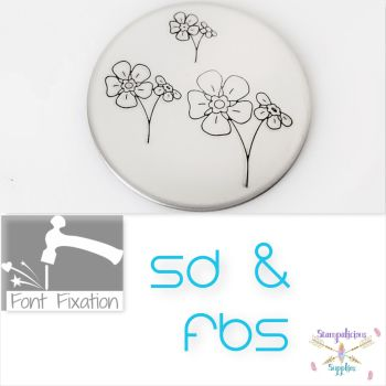 Forget Me Not Flower Metal Design Stamps - Which Size?