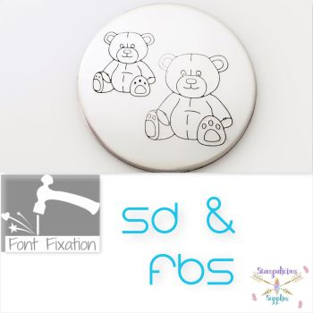 FBS Sitting Teddy Bear Metal Design Stamps - Which Size?