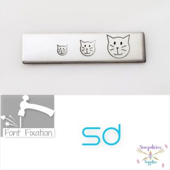 Stick Figure Cat Head Metal Design Stamp - Which One?