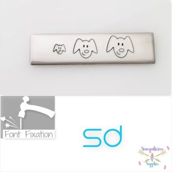 Stick Figure Dog Head Metal Design Stamp - Which One?