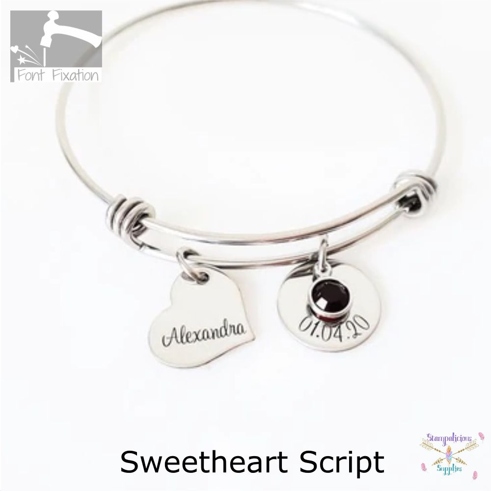 Sweetheart Script - Available In Different Sizes