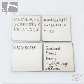 3mm Sweetheart Script Metal Font - Which Set?