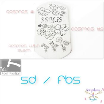 Cosmos Flower Metal Design Stamps - Which Size & Style?