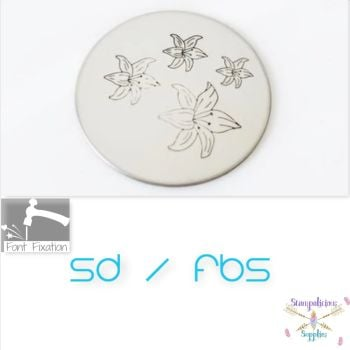 Lily Flower Metal Design Stamps - Which Size?