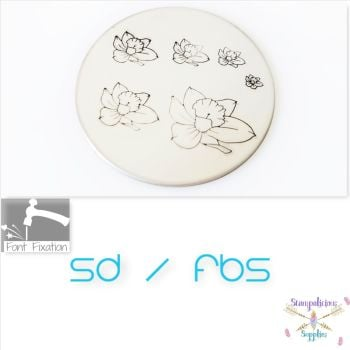 Daffodil Flower Metal Design Stamps - Which Size?