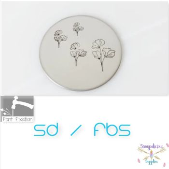 Sweet Pea Flower Metal Design Stamps - Which Size?