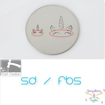 Unicorn Eyelashes Metal Design Stamps - Which Size?
