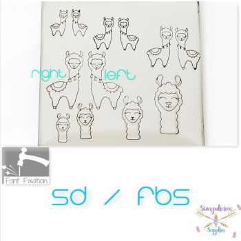 Cutsie Llama Metal Design Stamps - Which One?