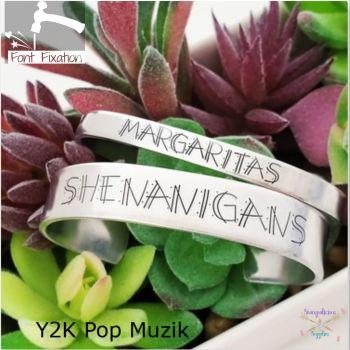 Y2k Pop Muzik Metal Font - Which Set?  **** 4.5mm & 6.5mm Available ****