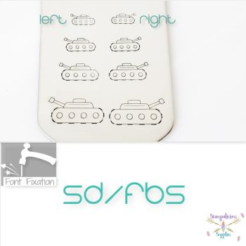Military Tank Metal Design Stamps - Which One?