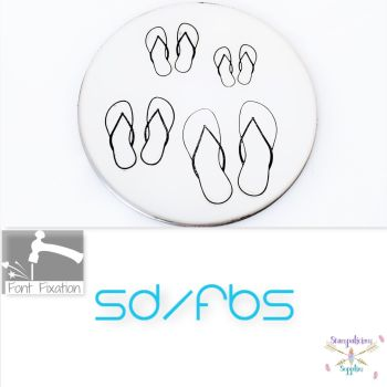 Beach Flip Flops Metal Design Stamps - Which One?