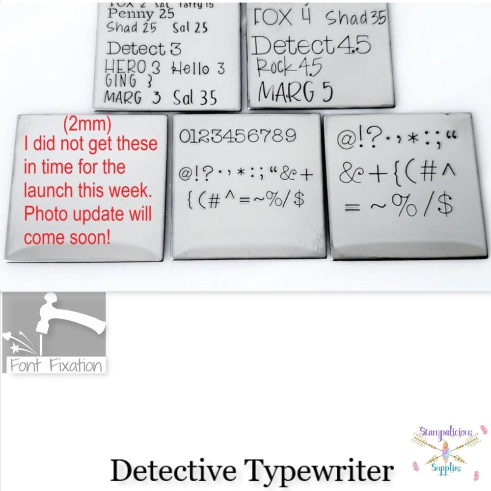 Detective Typewrite Individual Punctuation - Which One?  ****Available In D