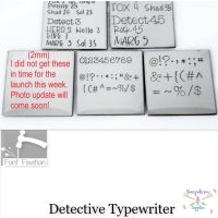 Detective Typewrite Individual Punctuation - Which One?  ****Available In Different Sizes*****