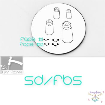 Salt & Peper Shaker / Faces Metal Design Stamps - Which One?