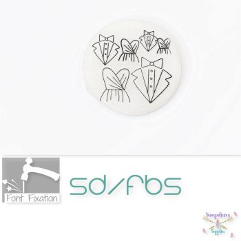 Wedding Tux & Gown Metal Design Stamps - Mr / MRS - Which Size?