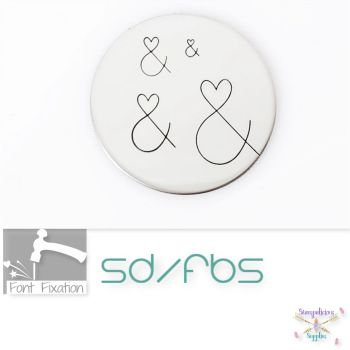 Wedding Heart Ampersand Metal Design Stamps - Which Size?