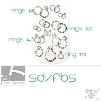 Wedding Rings Metal Design Stamps - Which Size?