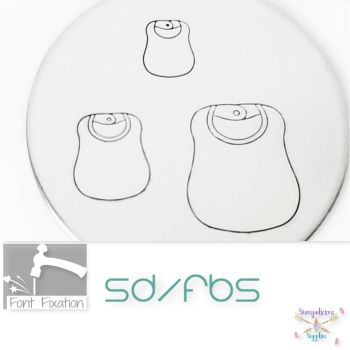 Baby Bib Metal Design Stamps - Which Size?