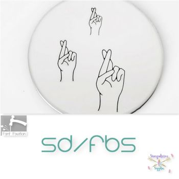 Crossed Fingers Gesture Metal Design Stamps - Which Size?