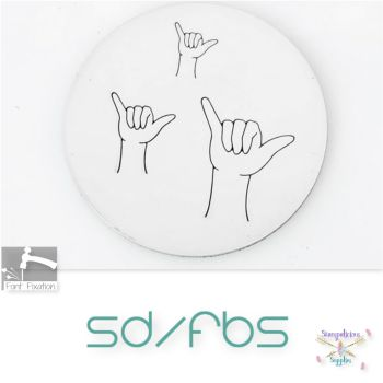 Hang Loose Gesture Metal Design Stamps - Which Size?