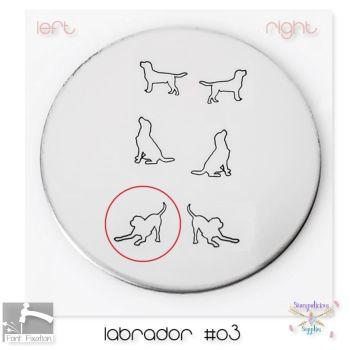 Labrador #03 Dog Metal Design Stamp - Which One?