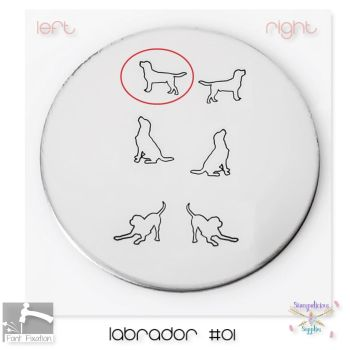 Labrador #01 Dog Metal Design Stamp - Which One?