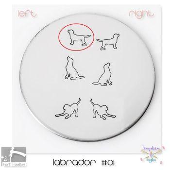 Labrador #01 Dog Metal Design Stamp - Which One?