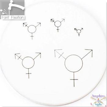 Transgender Symbol Metal Design Stamps - Which One?