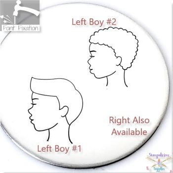 Side Profile Boy Metal Design Stamps - Which One?