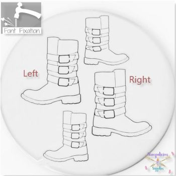 Buckled Biker Boot Metal Design Stamps - Which One?