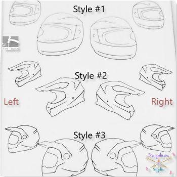 Motorcycle Biker Helmet Metal Design Stamps - Which One?