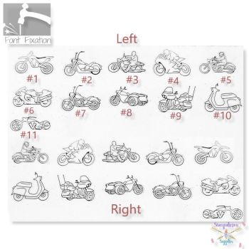 Motocycle Motorbike Metal Design Stamps - Which One?