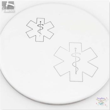 FBS Large Medical Symbol Metal Design Stamps - Which One?  *** Star of Life ***