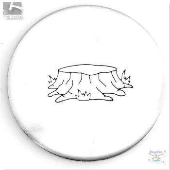 Large 12mm  Tree Stump Metal Design Stamp