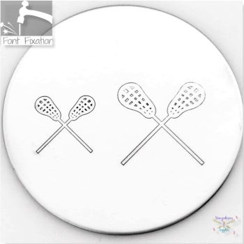 Crossed Lacrosse Metal Design Stamps - Which One?