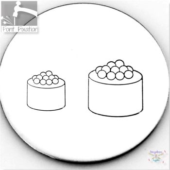 Cute Sushi Metal Design Stamps - Which One?  *** #3 ***