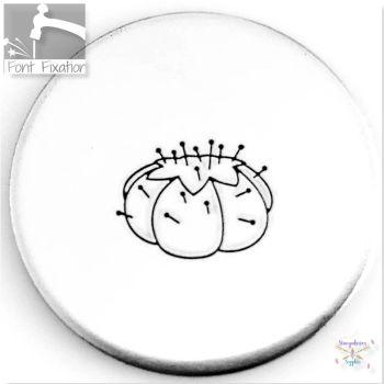 Sewing Pin Cushion Metal Design Stamp