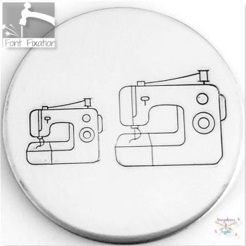 Modern Sewing Machine Metal Design Stamps - Which One?  *** #2 *** / *** Embroidery Machine Stamp ***