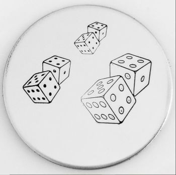 Standard Dice Metal Design Stamps - Which One?  *** Dice #1 ***