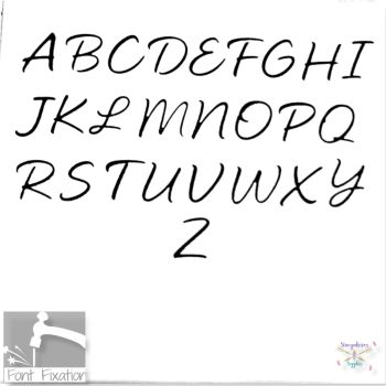 2.5mm Enticing Script Hand Stamping Font - Which Size/Set?