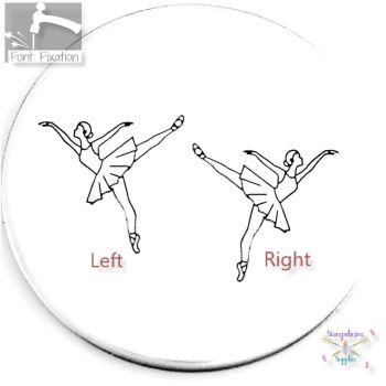 Ballerina Design Stamp *** #1 *** BALLET DANCER Metal Design Stamp - Which One?
