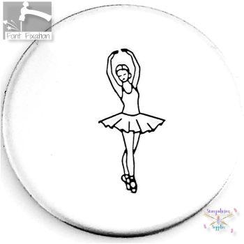Ballerina Metal Design Stamp *** #2 *** BALLET DANCER Metal Design Stamp