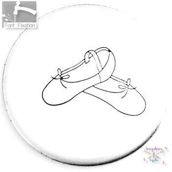 Ballet Shoes Metal Design Stamp *** Flat *** BALLET DANCER Shoes Metal Design Stamp