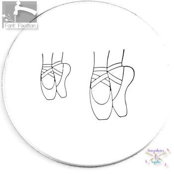 Pointe Ballet Shoes Metal Design Stamp *** Toe Shoes *** BALLET DANCER Shoes Metal Design Stamp - What Size?