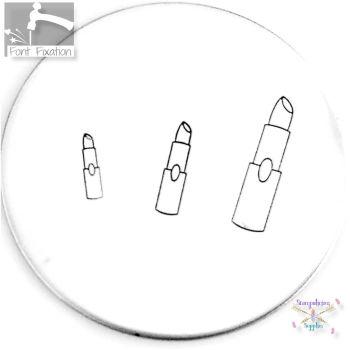 Lipstick Metal Design Stamp - What Size?